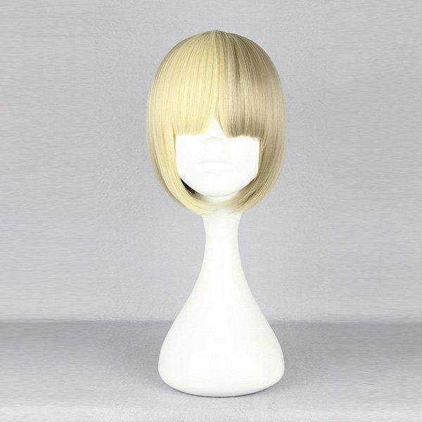 Harajuku Elegant Gold Short Synthetic Fiber High Temperature Cosplay Wig Anime Costume Hair