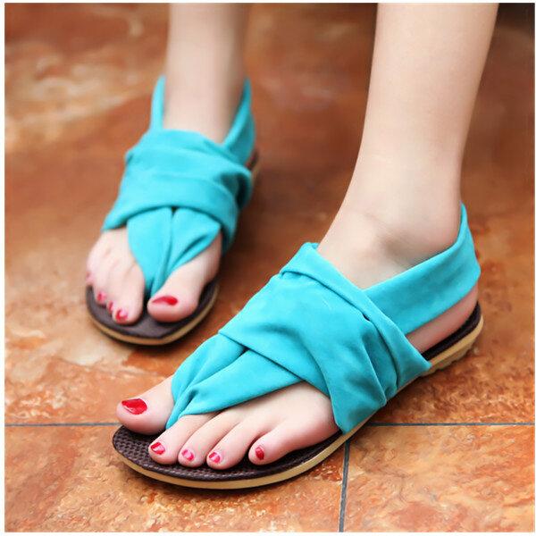 Women Bohemia Beach Strap Sandals T-Strap Flat Slippers Flip Flop Shoes