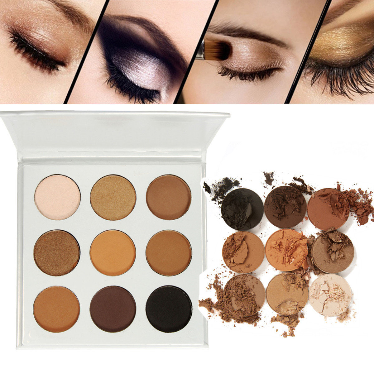 9 Colors Eye Shadow Makeup Palette Shimmer Matte Eyeshadow Cosmetic
