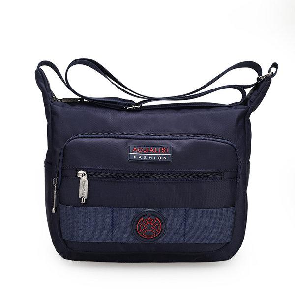 Nylon Men Casual Travel Shoulder Bag Waterproof Horizontal Crossbody Bag