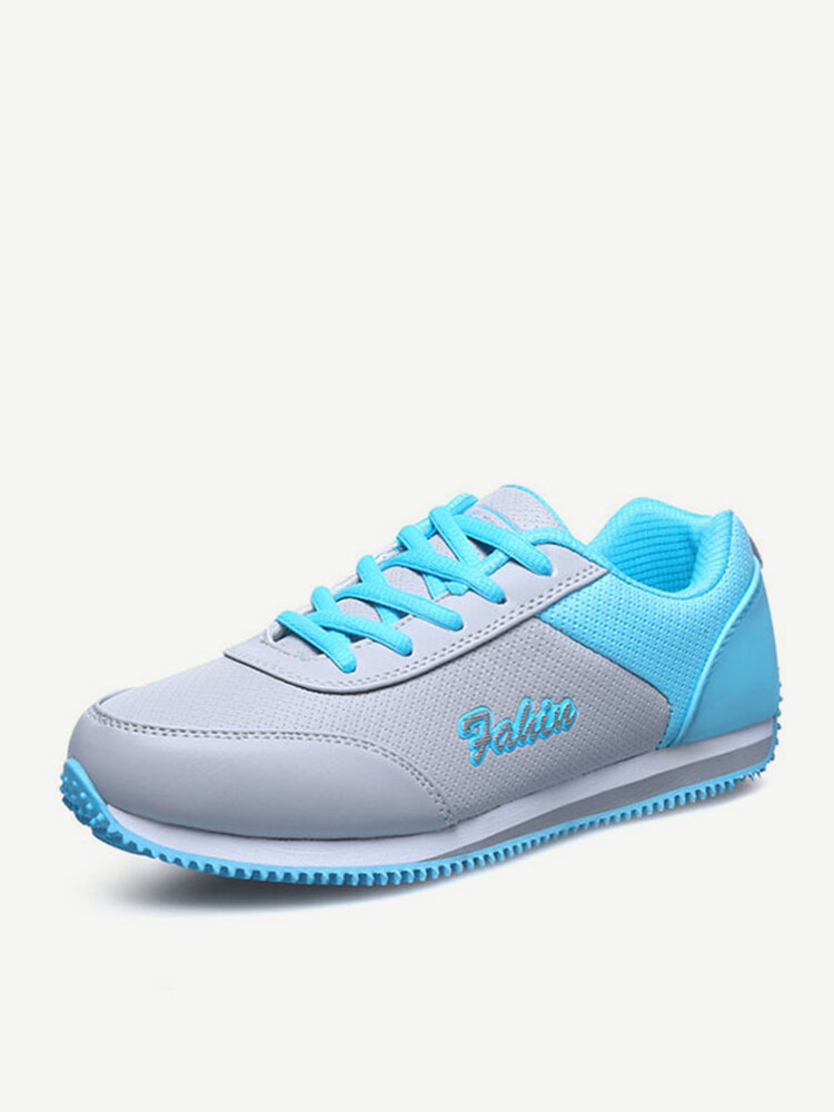 Sport Causual Lace Up Breathable Flat Running Sneakers