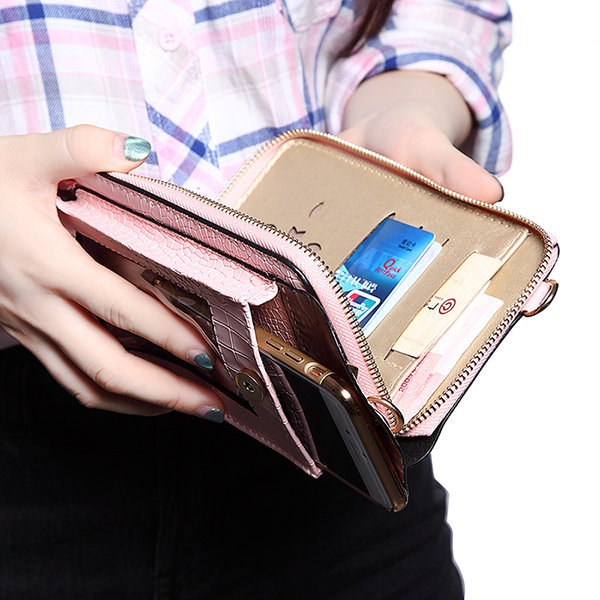 Women Girl Elegant Touch Screen 6inch Phone Bag Shoulder Bag For iPhone Samsung Xiaomi Sony Huawei