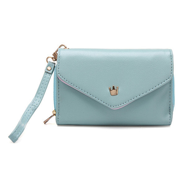 Crown Design Candy Color Women Purse Wallets For Iphone6 Card Holder