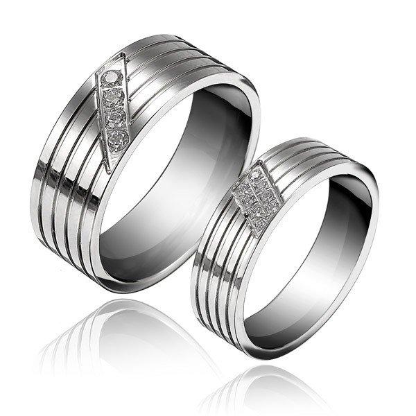 Personality Titanium Steel Couple Rings