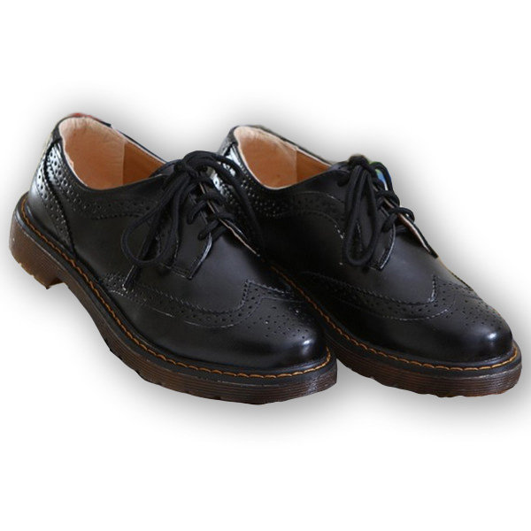 Casual Leather Retro Flat Oxford Shoes
