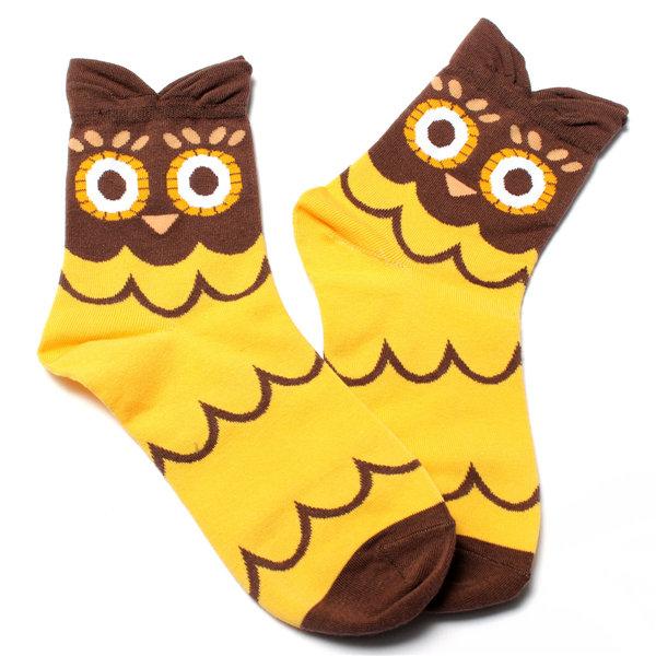 Women Warm Cartoon Lovely Cute Owl Cotton Socks