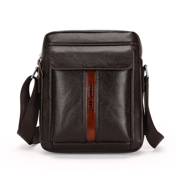 Vintage Business Casual PU Leather Vertical Horizontal Shoulder Bags Crossbody Bags For Men