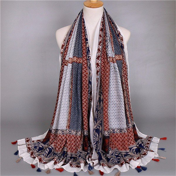 Women Lady Voile Flower Pattern Scarves Scarf Soft Wrap Long Shawl Scarves