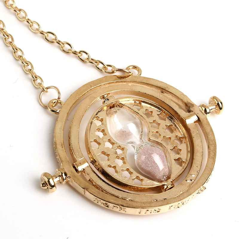 Gold Plated Sand Hourglass Pendant Necklace