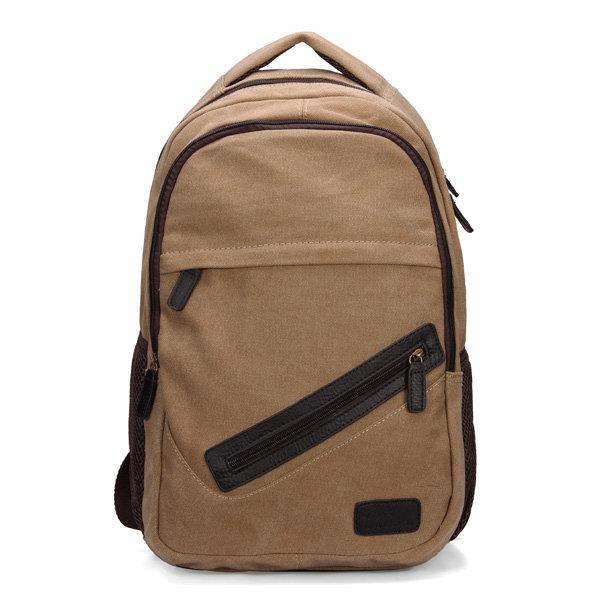 Men Vintage Retro Style Canvas Casual Backpack Durable 15'' Laptop Bag