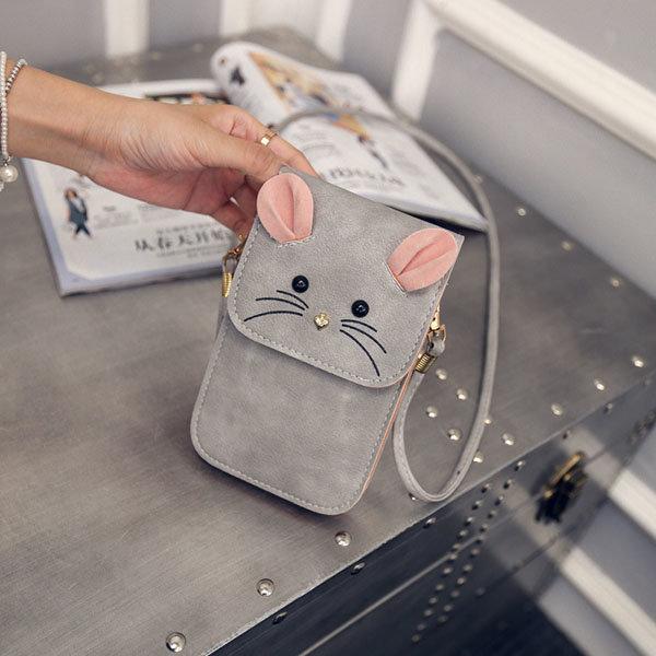 Женщины Прекрасный Стиль Fox мультфильм сумка плеча 6inch телефон сумка для iPhone Xiaomi Sony Huawei