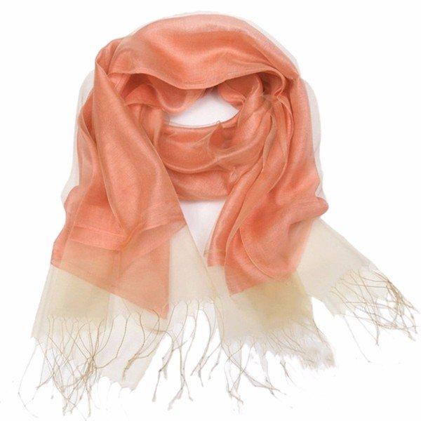 Женщины Твердые шелковый шарф плюс размер Wide Plain Luxury шаль