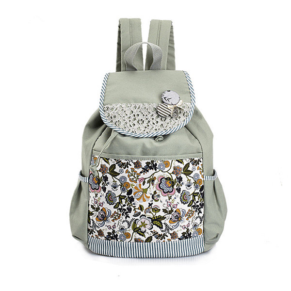 Women Fashion Lace Canvas Backpack Sweet Casual School Bags