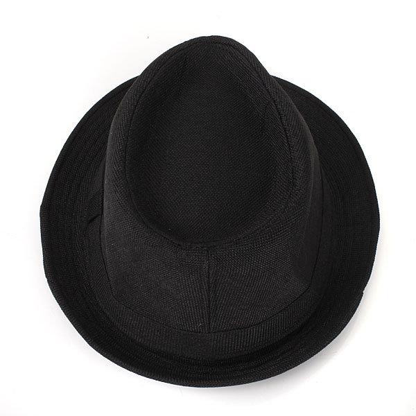 Men Women Casual Fedora Trilby Straw Panama Beach Sun Cap Wide Brim Bowler Hat