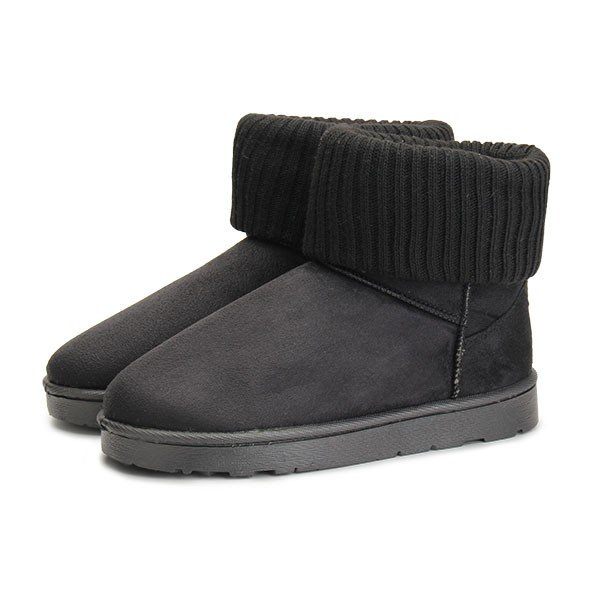 Pure Color Knitting Warm Flat Ankle Boots