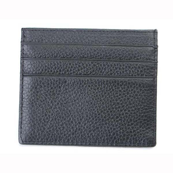 Men Black Casual Genuine Leather Small Card Bag