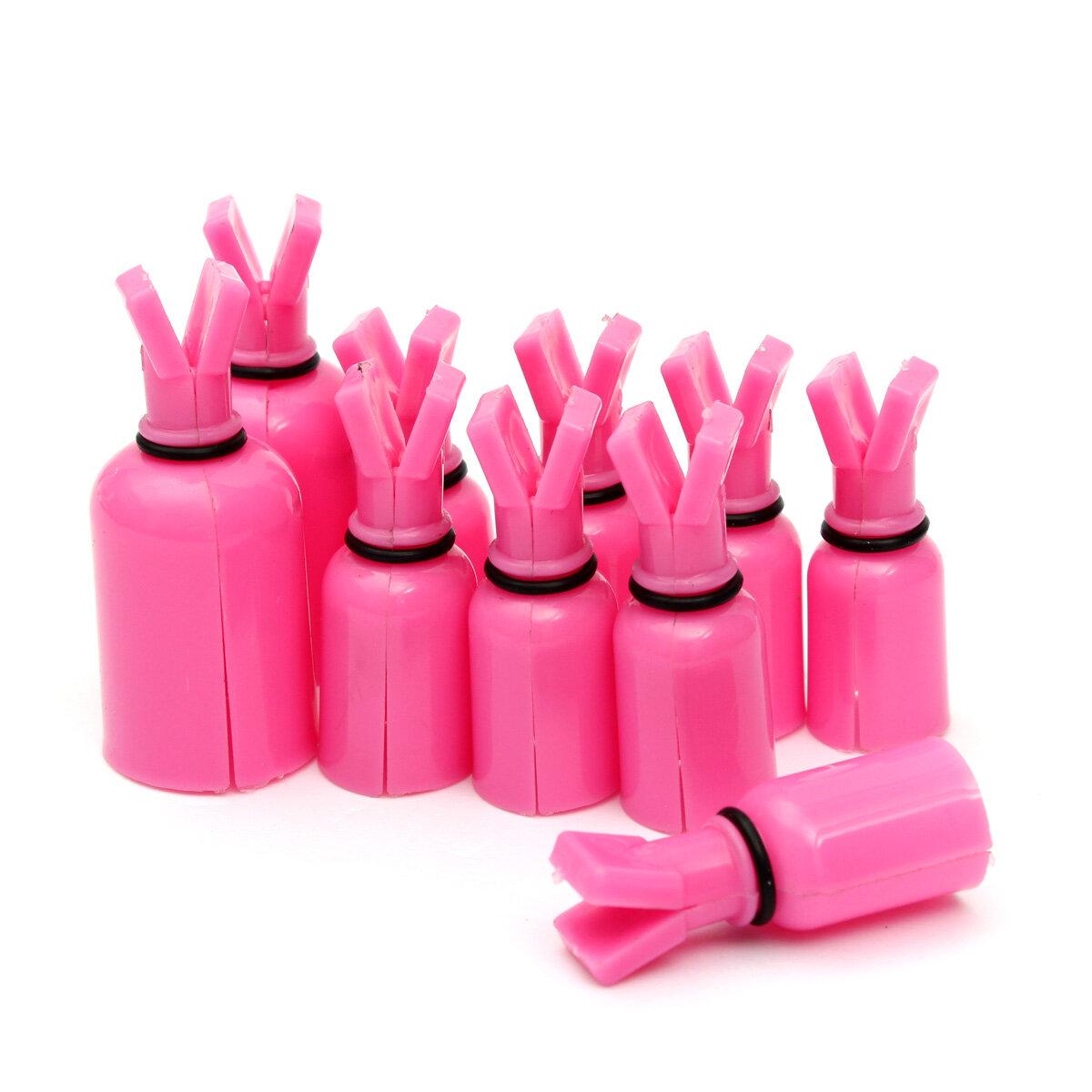 10Pcs Plastic Soak Off UV Gel Polish Remover Wrap Cap  Nail Cotton Clip Tool