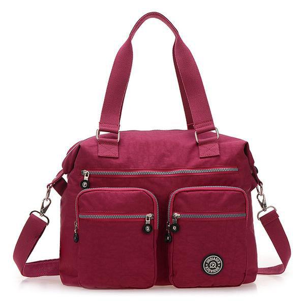 Nylon Waterproof Bag Casual Handbag Shoulder Bag Multi-pocket Crossbody Bag