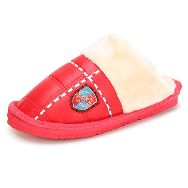 Check Home Warm Cotton Indoor Slippers