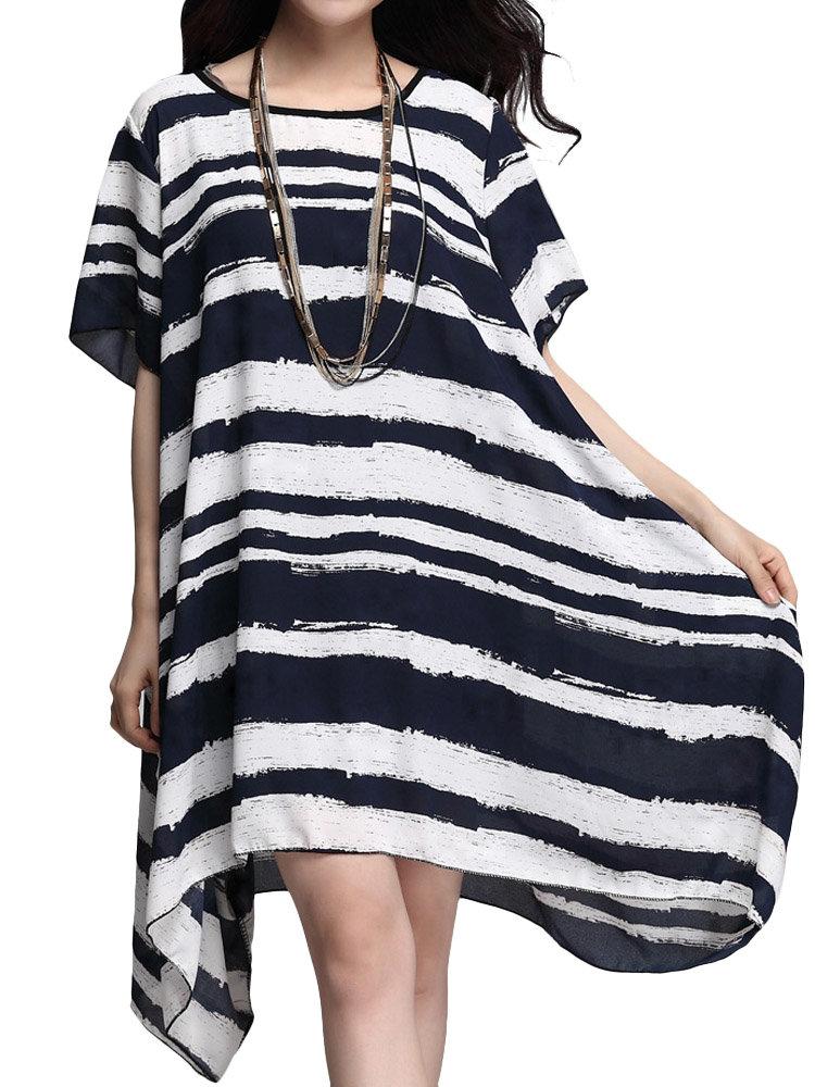 Элегантный нашивки High Low Party Туники майка платье для женщин