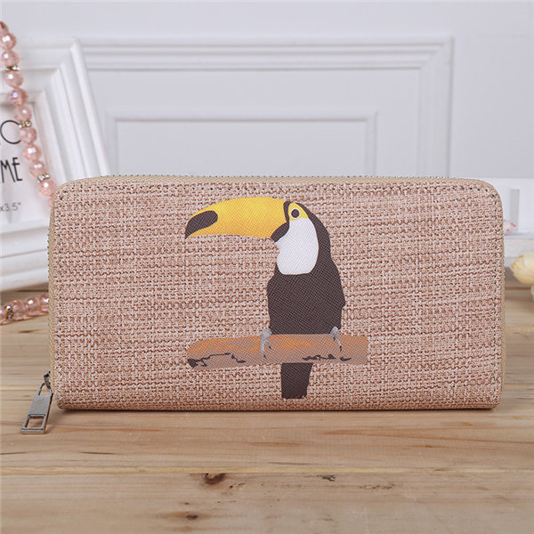 Women Stylish Cartoon Pattern Retro PU Leather Wallet Card Holder Tote Bags