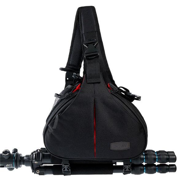 Многофункциональный полиэфирное волокно DSLR гаджет сумка красный интерьер камеры сумка Crossbody сумки