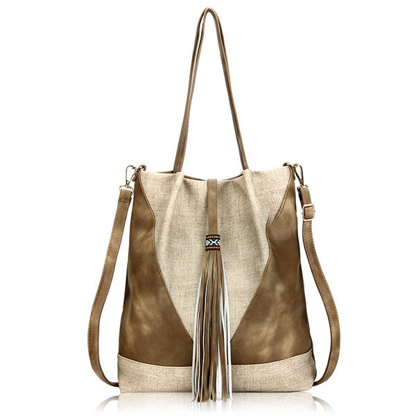 Women Tassel National Style Bucket Handbag Shoulder Bags Crossbody Bags