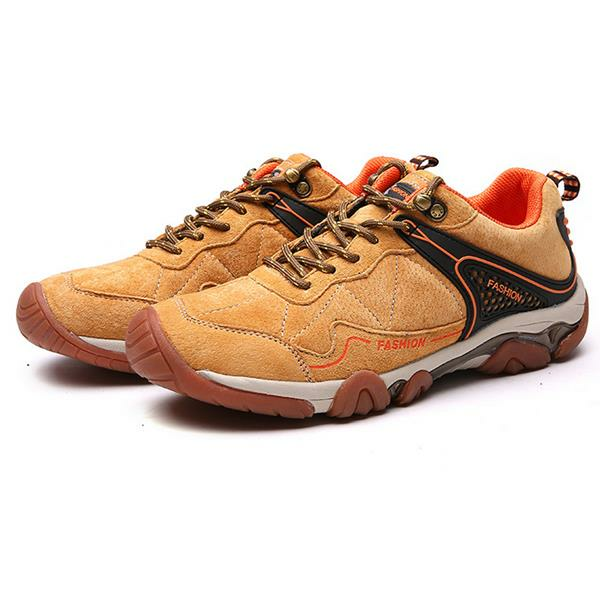 Men's Metal Button Breathable Non-slip Outdoor Sport Hiking Sneakers