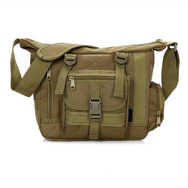 Men Tactical Outdoor Travel Crossbody Bag Multifunctional Casual Shoulder Bag