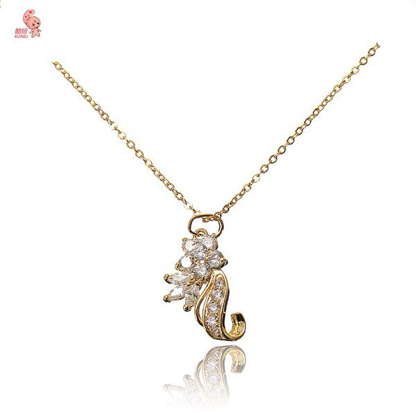 18k Gold Plated Inlay Crystal Zircon Necklace