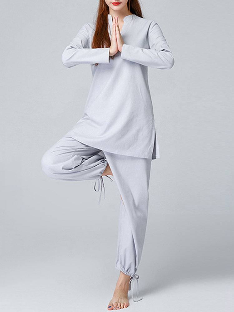 Ethnic Women Long Sleeve 2-Piece Yoga Casual Tracksuits