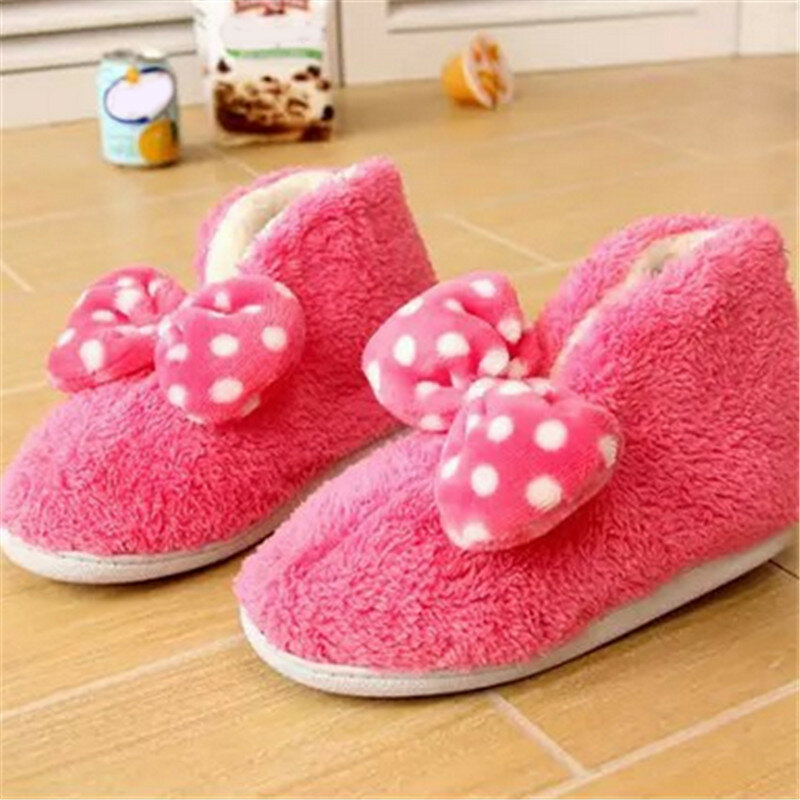 Ankle Butterflyknot Slip On Cute Candy Color Flat Home Shoes