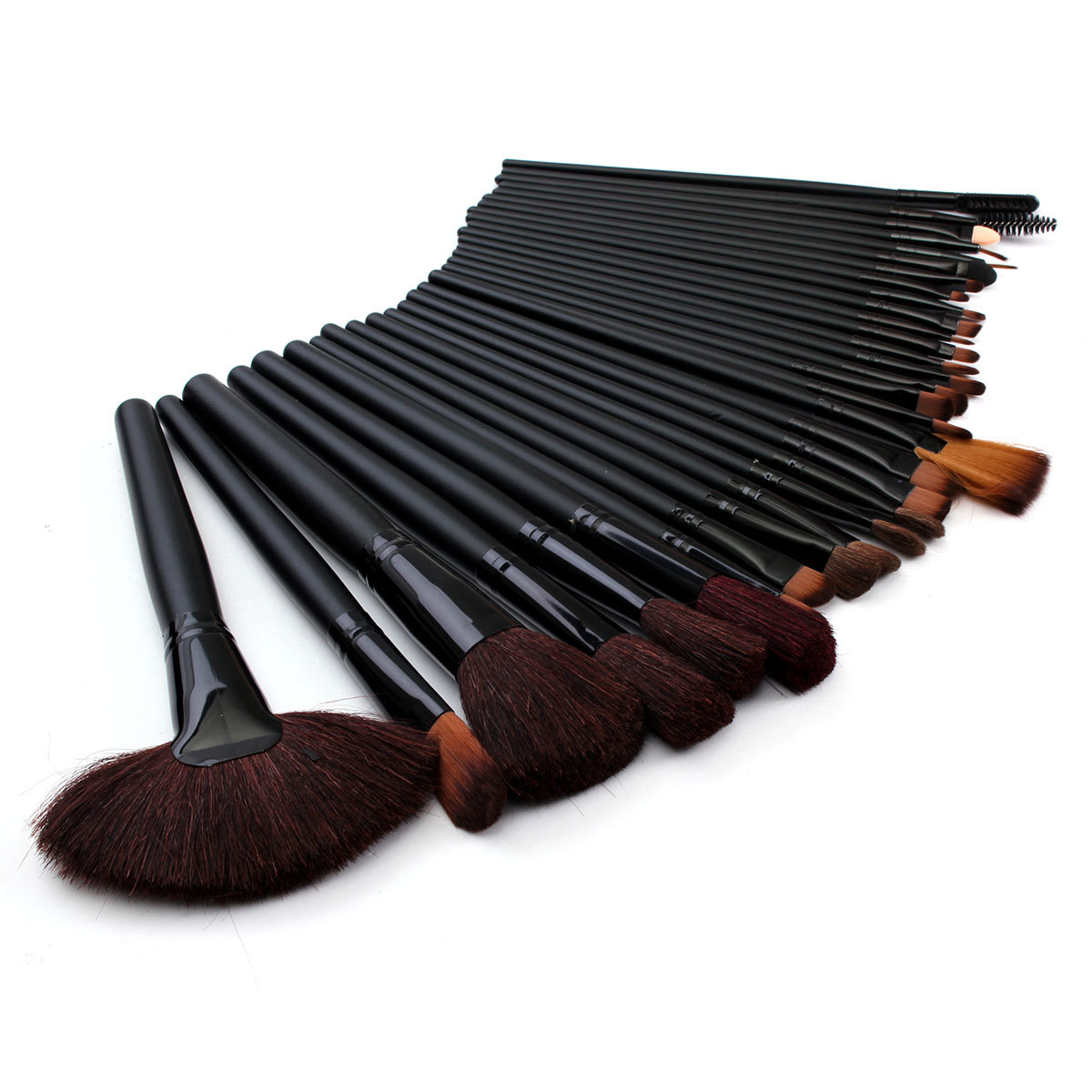 32 Pcs Makeup Brush Set Black Eyeshdow Eyebrow Cosmetic Brushes Kit With Pouch Bag