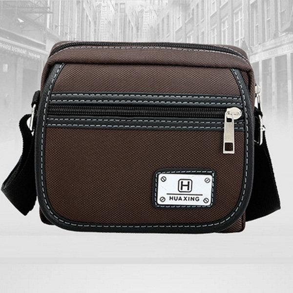 Men Oxford Crossbody Bag Patchwork Messengers Bag Shoulder Bag