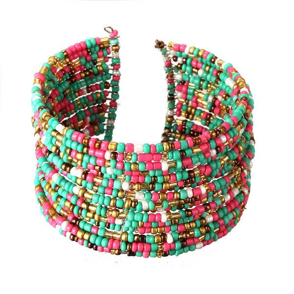 Bohemian Handmade Multilayer Circle Beads Bracelet
