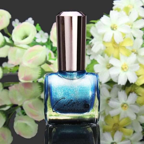 12ML Metal Blue Color Nail Art Varnish Polish Nail Enamel