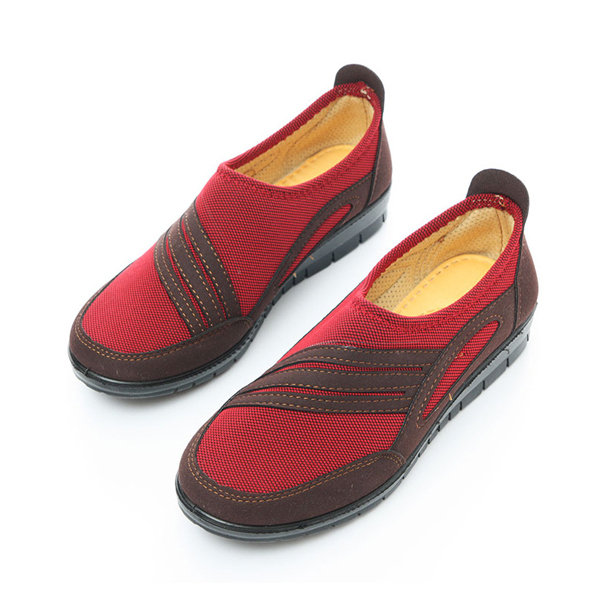 Color Match нашивки Холст скольжению на вождении Ленивый плоские туфли