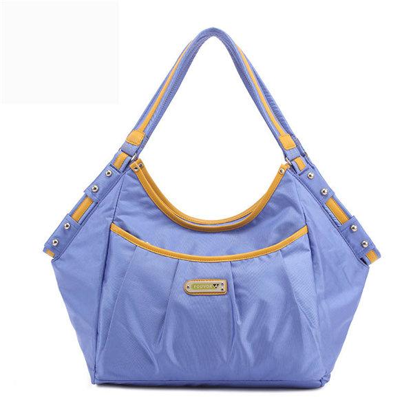 Women Nylon Waterproof Rivet Totes Casual Handbags