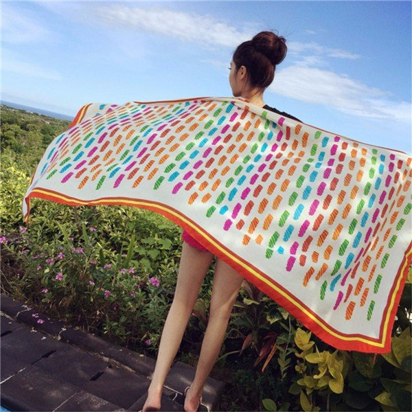 Women Cotton Beach Scarf Shawl Gym Holiday Travel Camping Towel
