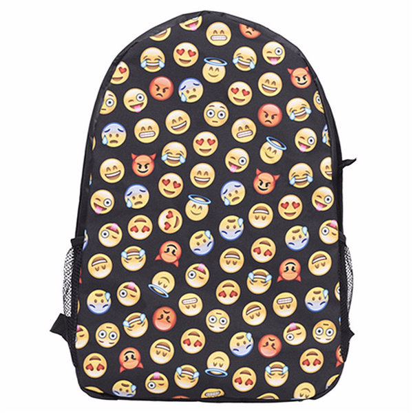 Student School Bags Expression Casual Cartoon Gute Creative Backpack