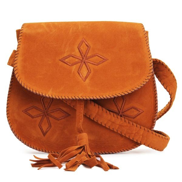 Women Hand-embroidered Tassels Retro Small Crossbody Bag