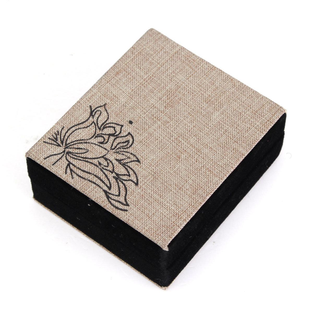 Lotus Linen Jewelry Gift Box