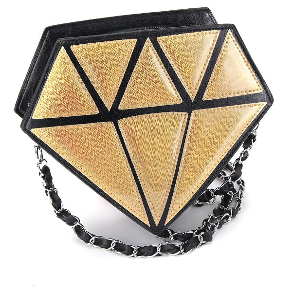 Women Diamond Shape Shoulder Messenger Bag