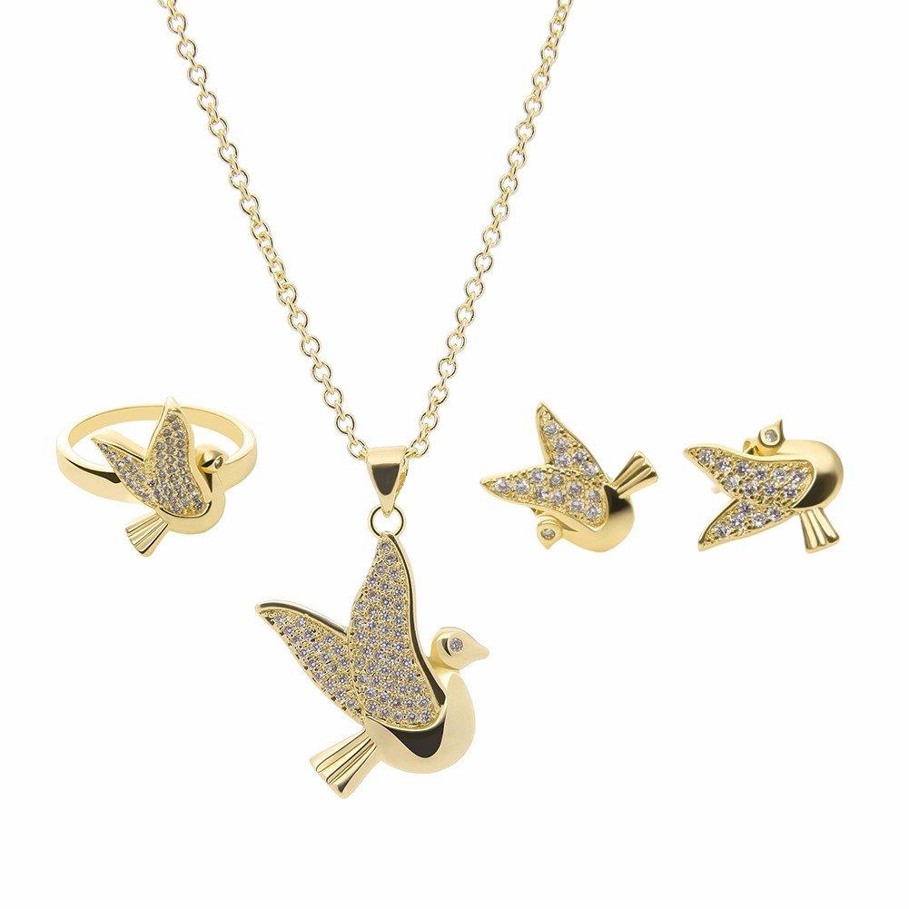 Сплав комплект ювелирных изделий Rhinestone Fly Bird серьги ожерелье Установить