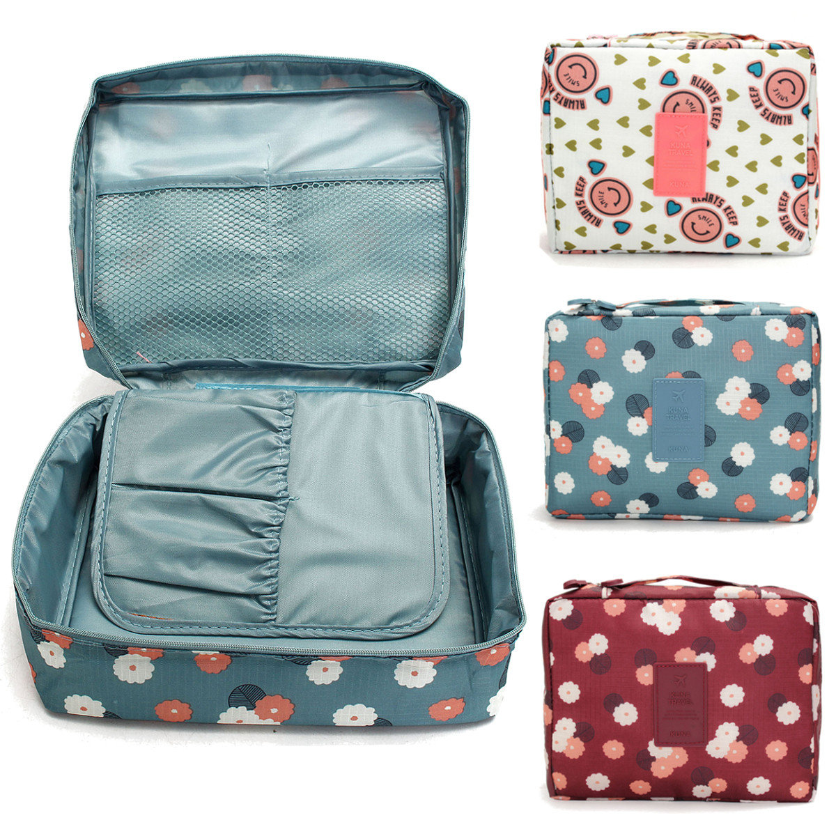 3 Шаблоны Путешествия Косметический макияж сумка Организатор хранения туалетных принадлежностей Wash Чехол