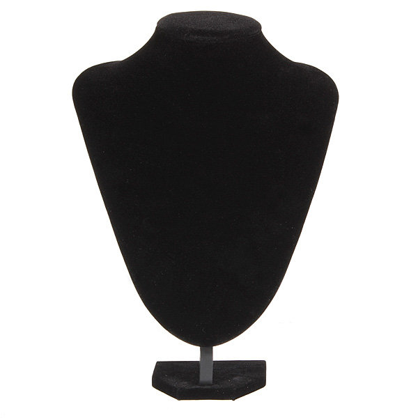 Black Velvet Necklace Display Stands Jewelry Pendent Display Stands