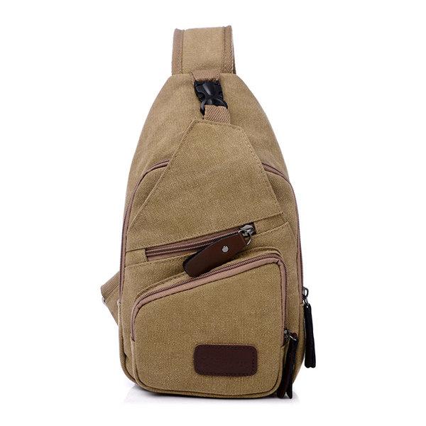 Men Women Canvas Casual Shoulder Bag Chest Bags Portable Crossbody Bags