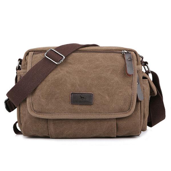 Canvas Outdoor Travel Leisure Shoulder Men Women Retro Capacity Crossbody Bag