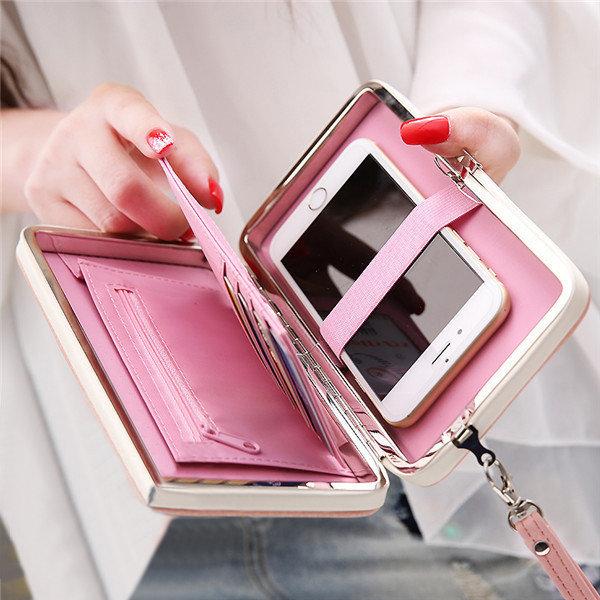 Women Universal 5.5 Inch Phone Bag Wallet PU Phone Case For Iphone,Xiaomi,Samsung,Sony,Huawei