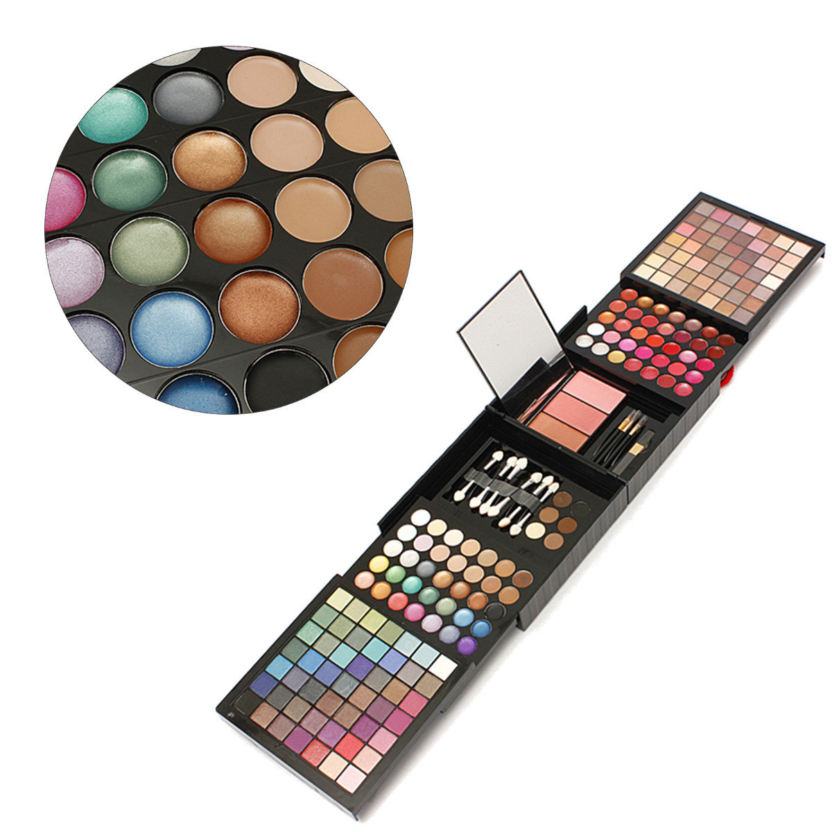 Professional Makeup Palette Set Eye Shadow Blusher Powder Concealer Lip Brow Cosmetic 177 Colors
